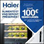 Offre de Remboursement Haier : 100 € sur Congélateurs et Caves à Vin - anti-crise.fr