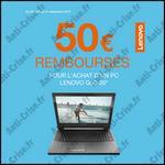 Offre de Remboursement Lenovo : 50 € sur PC G50-30 - anti-crise.fr