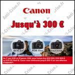Offre de Remboursement Canon : 300 € sur Appareil Photo + Objectif EOS - anti-crise.fr
