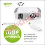 Offre de Remboursement Acer : 100 € sur Projecteur + WiHG dongle - anti-crise.fr