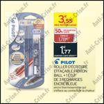 Bon Plan Pilot : Stylo Frixion + 3 Recharges Gratuits - anti-crise.fr