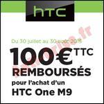 Offre de Remboursement htc : 100 € sur Smartphone One M9 - anti-crise.fr