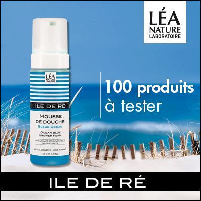 Test de Produit Beauté Test : Mousse de douche Bleue Océan Ile de Ré Léa Nature - anti-crise.fr
