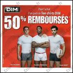 Offre de Remboursement Dim : 50 % sur Tee-Shirts Homme - anti-crise.fr