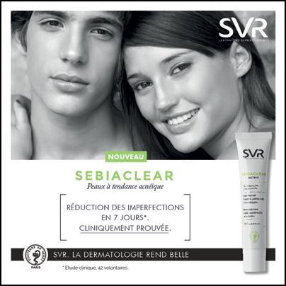 Test de Produit Beauté Test : SEBIACLEAR Crème active du Laboratoire SVR - anti-crise.fr