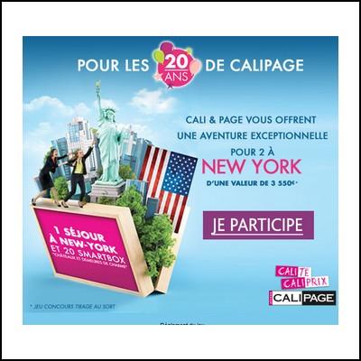 Tirage au sort Calipage : Séjour à New York à gagner !  anti-crise.fr