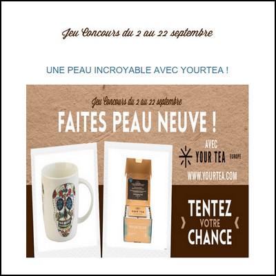 Instant gagnant Confidentielles : 25 Mugs + Boîte Skin Magic - Your Tea à gagner !  anti-crise.fr