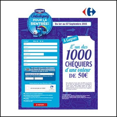 Tirage au sort Carrefour : Chèquiers à gagner !  anti-crise.fr