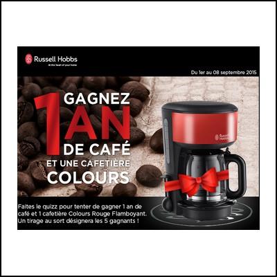 Tirage au sort facebook Russell Hobbs : Un an de café Lavazza à gagner ! anti-crise.fr