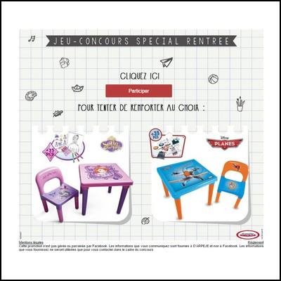 Tirage au sort Facebook d'Arpèje : 1 table d'activités pour enfant à gagner !  anti-crise.fr