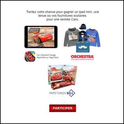 Tirage au sort facebook Cars : Ipad mini à gagner ! anti-crise.fr