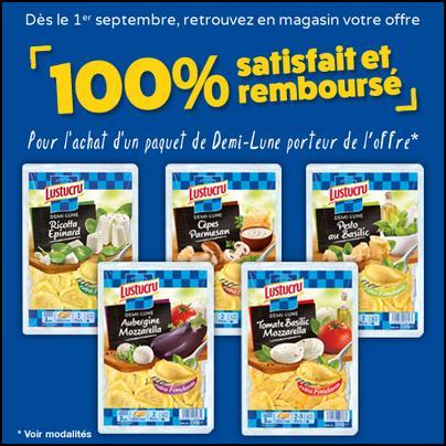 Offre de Remboursement Lustucru : Demi-Lune Satisfait Et 100 % Remboursé - anti-crise.fr