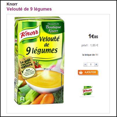 Bon Plan Knorr : Soupe Liquide 1L à 0,35 € (partout) - anti-crise.fr