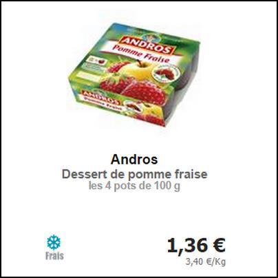 Bon Plan Andros : Desserts Fruitiers presque Gratuits - anti-crise.fr