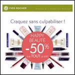 Yves Rocher : Happy Beauté - 50 % sur tout le site !! - anti-crise.fr