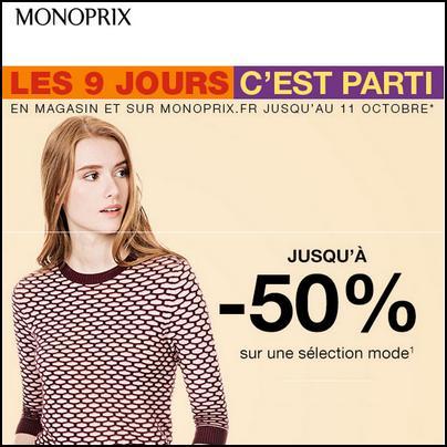 Bon Plan Monoprix : 50 % sur la Mode - anti-crise.fr