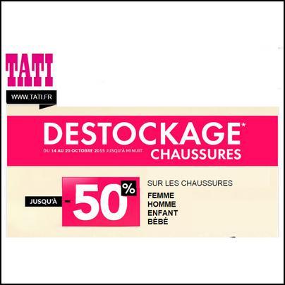Bon Plan Tati : Jusqu'à 50 % sur les Chaussures - anti-crise.fr