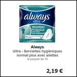 Bon Plan Always : Serviettes Ultra Gratuites partout - anti-crise.fr