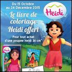 Bon Plan Famosa : Livre de Coloriage Offert pour l'achat d'une Poupée Heidi - anti-crise.fr
