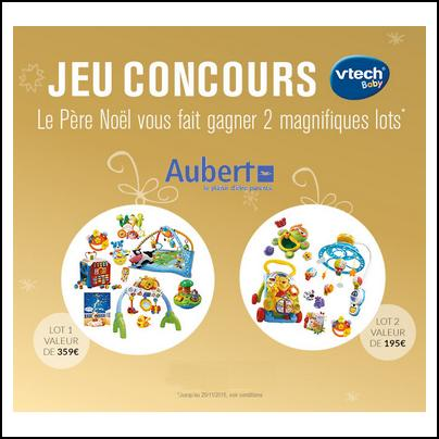 Tirage au sort Aubert : Un Lot Vtech d'une valeur totale de 359 € à Gagner - anti-crise.fr