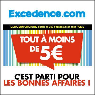 Bon Plan Excedence : Tout à moins de 5 euros - anti-crise.fr