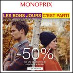 Bon Plan Monoprix : Jusqu'à - 50 % sur la Mode - anti-crise.fr
