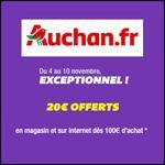 Bon Plan Auchan : 20 € Offerts dès 100 € d'achats - anti-crise.fr