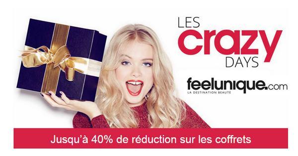 Bon Plan Feelunique : Jusqu'à - 40 % sur les coffrets avec les Crazy Days - anti-crise.fr'