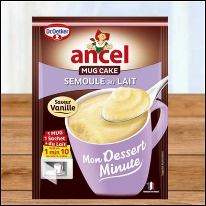 Tester des Produits : Mug Cake - Semoule au lait - ANCEL - anti-crise.fr