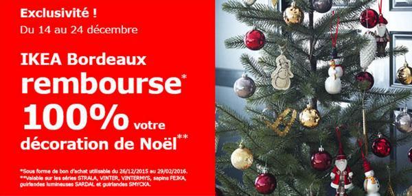 Bon Plan IKEA Bordeaux : Décorations de Noël 100 % Remboursées en 1 Bon - anti-crise.fr