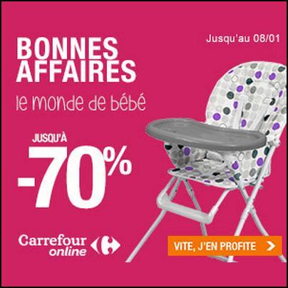 Bon Plan Carrefour : Jusqu'à - 70 % sur le monde de Bébé - anti-crise.fr