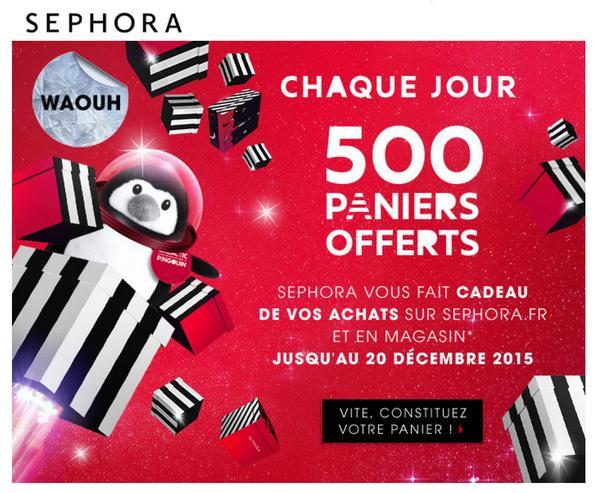 Tirage au Sort Sephora : 70 Commandes Offertes chaque jour !! - anti-crise.fr