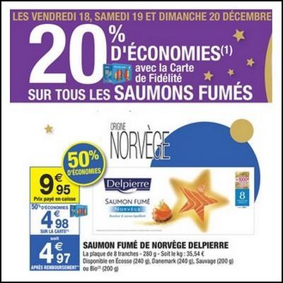 Bon Plan Delpierre : Saumon Fumé 8 Tranches à moins d'1 € chez Carrefour Market - anti-crise.fr