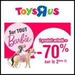 Bon Plan Toys R Us : - 70 % sur le 2ème article Barbie - anti-crise.fr