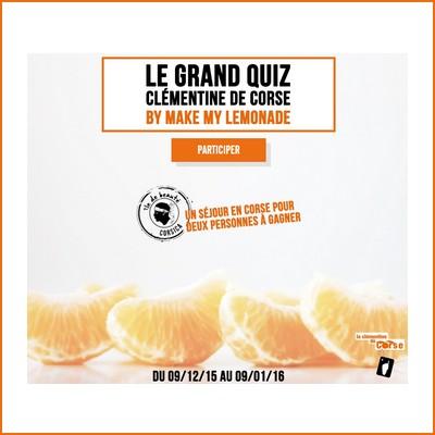 Tirage au sort facebook Clémentine de Corse : Séjour en Corse à gagner ! anti-crise.fr