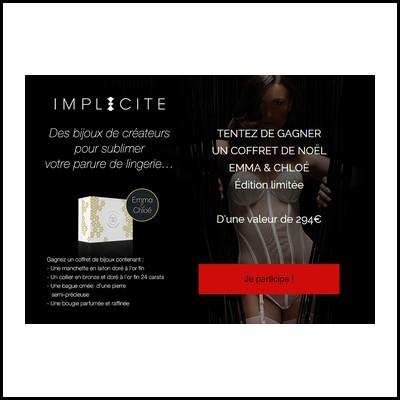Tirage au sort Facebook Implicite : Box bijoux Emma & Chloé à gagner ! anti-crise.fr