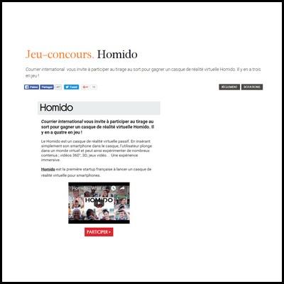 Tirage au sort Courrier International : casques de réalité virtuelle Homido à gagner ! anti-crise.fr