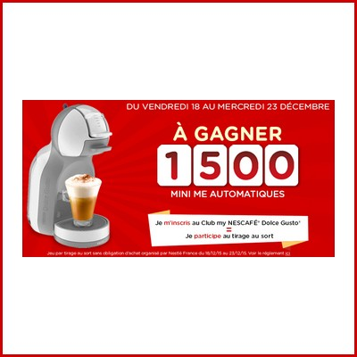 Tirage au sort Dolce Gusto : Machines à gagner ! anti-crise.fr