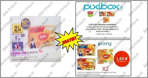 Bon Plan Iglo : 2 Boîtes de Nuggets de Poulet Gratuites - anti-crise.fr