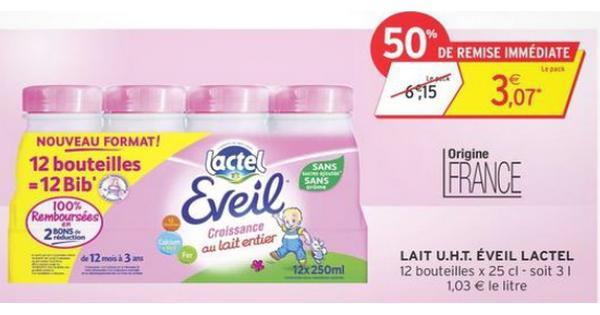 Bon Plan Lactel : Pack Eveil Croissance à 1,07 € chez Intermarché - anti-crise.fr