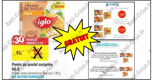 Bon Plan Iglo : Panés de Poulet Gratuits chez Carrefour - anti-crise.fr