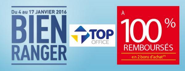Offre de Remboursement Top Office : Fournitures de Bureau 100 Remboursées en 2 Bons - anti-crise.fr