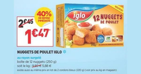 Bon Plan Igloo : Nuggets de Poulet Gratuits chez Simply Market - anti-crise.fr