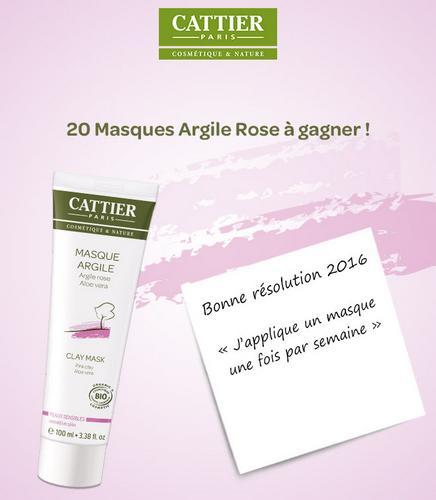 Test de Produit BioAddict : Masque Beauté Bio à l'argile rose Cattier - anti-crise.fr