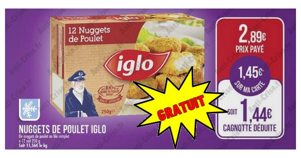 Bon Plan Iglo : Nuggets de Poulet Gratuits chez Match - anti-crise.fr