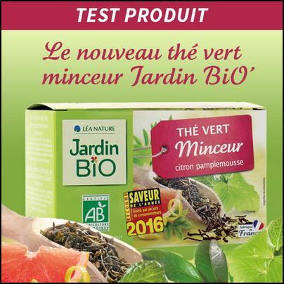 Test de Produit Jardin Bio : Nouveau Thé Vert Minceur - anti-crise.fr