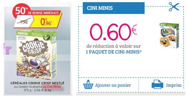 Bon Plan Cini Minis : Céréales à 0,36 € chez Intermarché - anti-crise.fr
