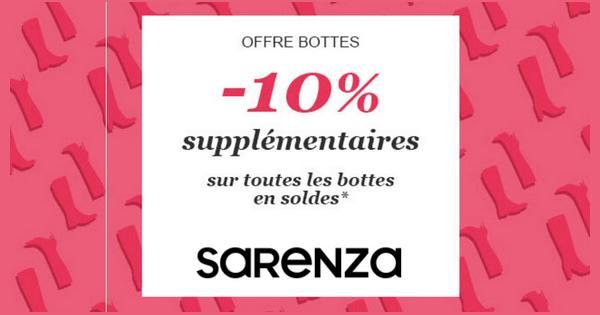 Bon Plan Sarenza : - 10 % supplémentaires sur les Soldes des Bottes - anti-crise.fr