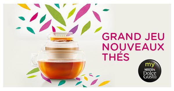 Tirage au Sort Nescafé® Dolce Gusto® :  Boîtes de 16 capsules Citrus Honey Black Tea et Macaron Green Tea à Gagner - anti-crise.fr