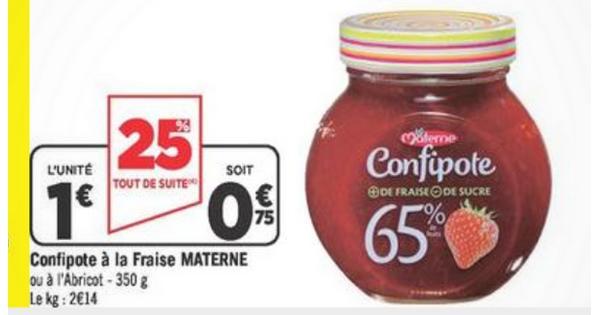 Bon Plan Materne : Confipote Gratuite chez Géant Casino - anti-crise.fr